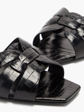 Load image into Gallery viewer, Tribute crocodile-effect leather sandals