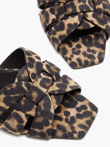 Tribute leopard-print suede sandals
