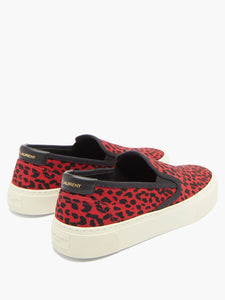Venice leopard-print slip-on trainers