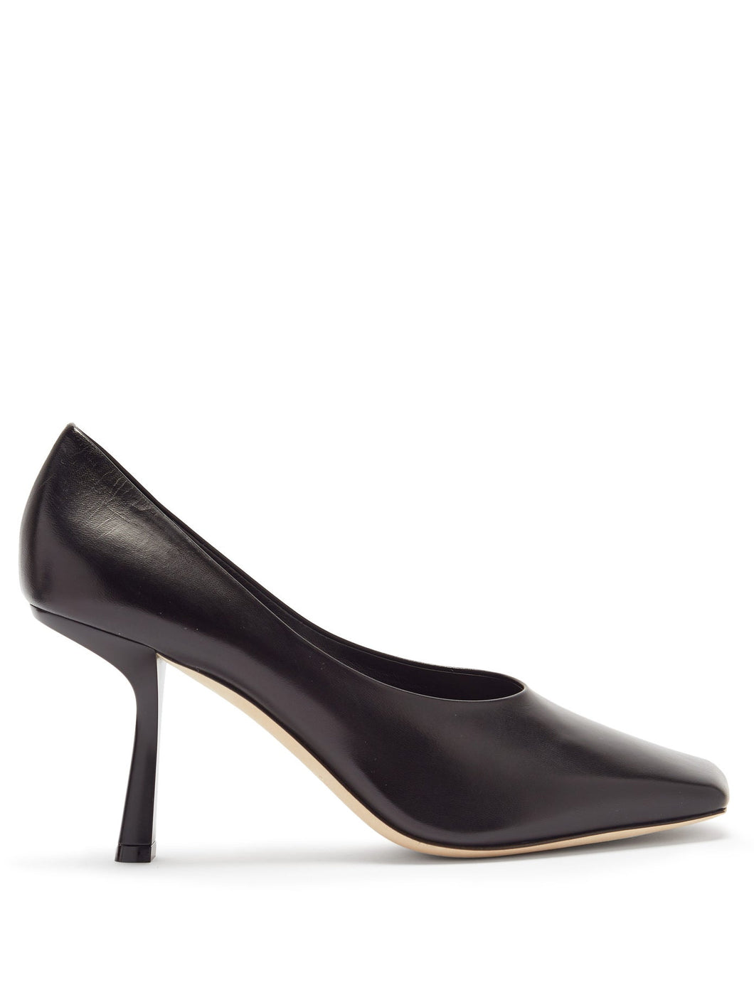 Marcela 85 square-toe leather pumps