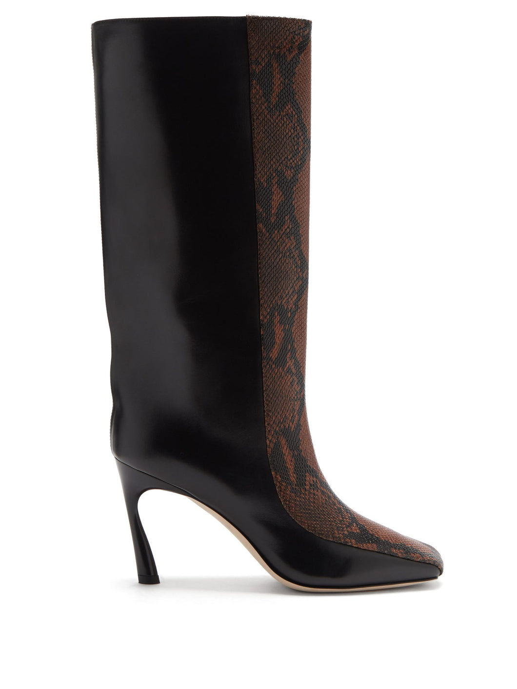 Mabyn 85 snake-effect leather knee-high boots