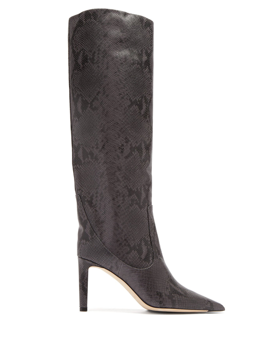Mavis 85 python-effect leather knee-high boots