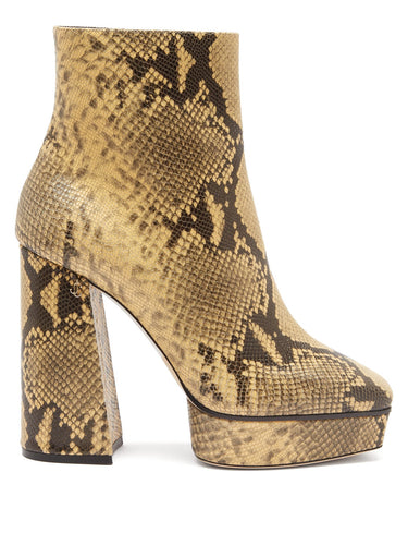 Bryn 125 python-effect leather boots