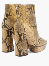 Load image into Gallery viewer, Bryn 125 python-effect leather boots