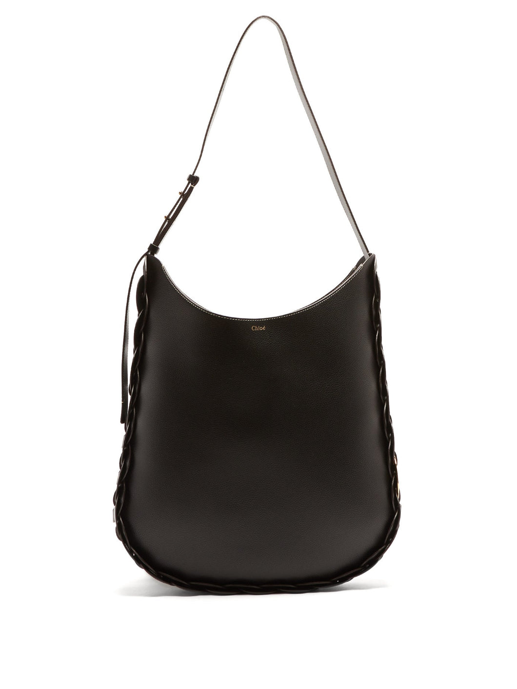 Daria XL grained-leather shoulder bag