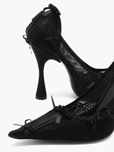 Lingerie lace pumps