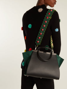 Strap You spike-embellished leather bag strap