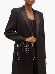 Talitha studded suede bucket bag