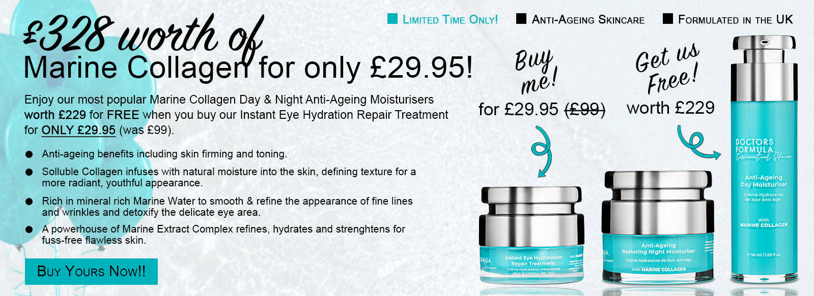 Doctors Formula Eye Hydration Treatment | Skincare | Beauty | Offer | Anti-Ageing | Marine Collagen