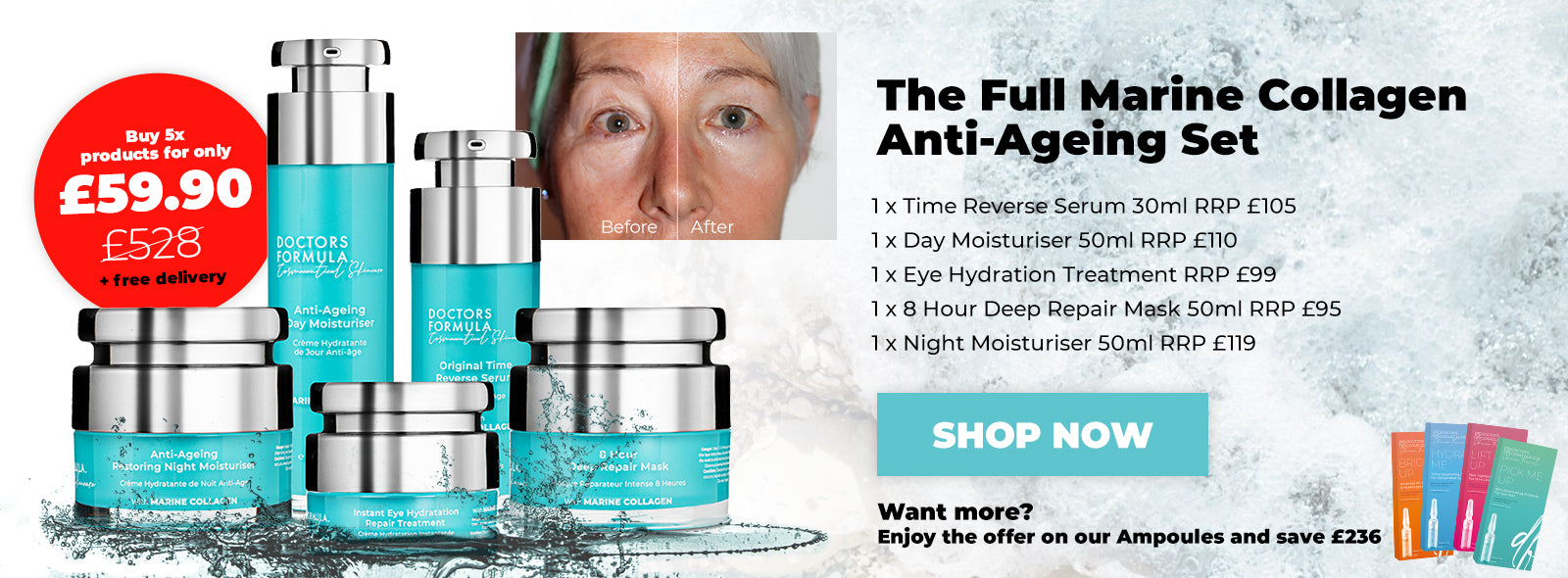 Save £468.10 Buy The Doctors Formula Marine Collagen Full Anti-Ageing set - 5 products - All Skin Type