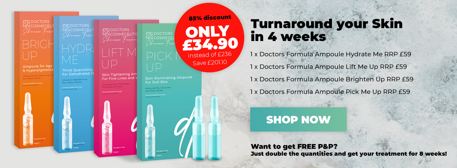 Doctors Formula - 28 Day Ampoule Treatment - 28 x 2ml
