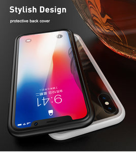 Magnetic tampered glass case for iphone XR XS MAX X 8 plus 7 plus