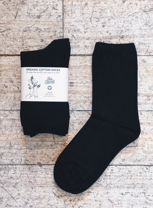 Organic Cotton Socks - mid rise