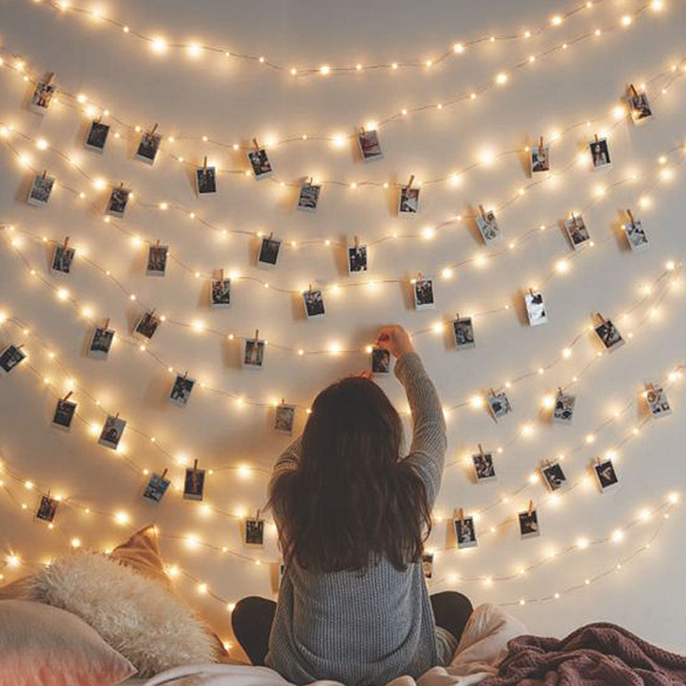 DIY Photo Clip Holder LED String lights For Home Decoration Fairy lights. at wurastore.com