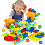 104-208PCS Marble Race Run Maze Ball Track Building Blocks toys for kids. at wurastore.com