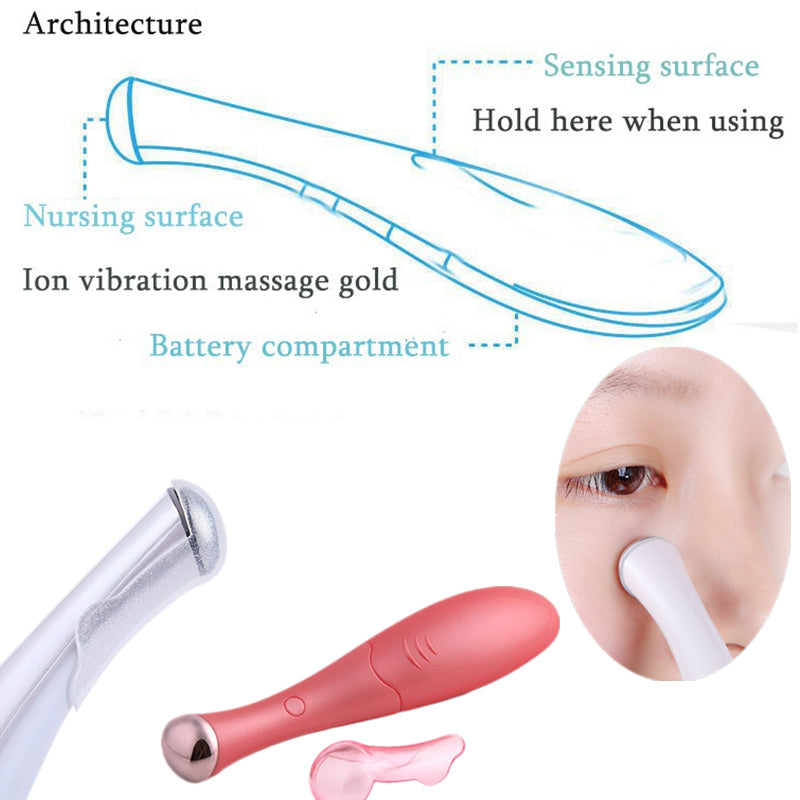Electric Eye Massager Skin Beauty Care Mini Massage Device Facial Vibration Thin Face Magic Stick Anti Bag Pouch &wrinkle Pen, 10% + Free Shipping at wurastore.com