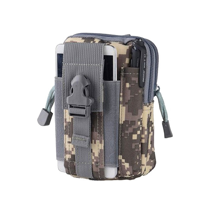 Men Tactical Molle Pouch Belt Waist Pack Bag Small Pocket Military Waist Pack Running Pouch Travel Camping Bags Soft back at wurastore.come