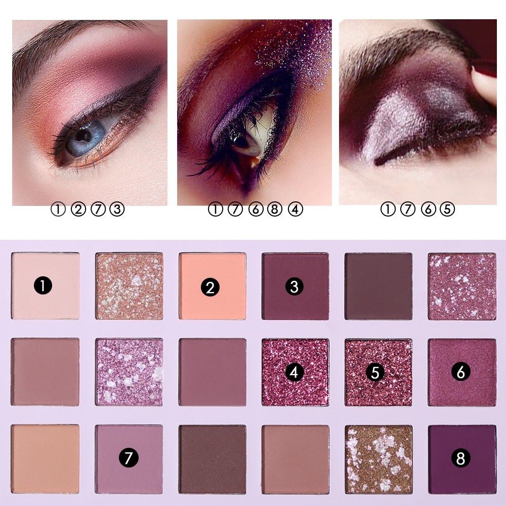 UCANBE Aromas Nude Eye Shadow Palette 18 Color Eyeshadow Shimmer Matte Glitter Powder Waterproof Paleta De Sombra Makeup Pallet. at wurastore.com