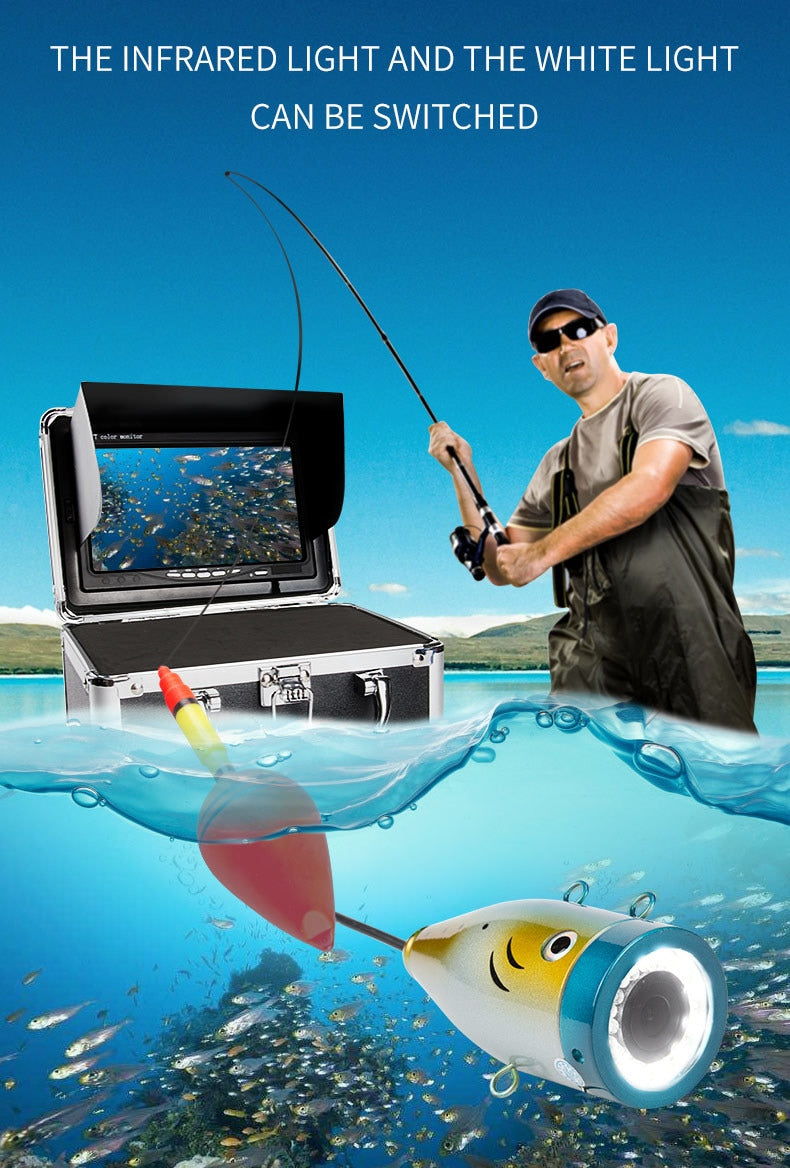 "Original Fish Finder Underwater, Ice Video Camera Kit in 15M, 30M & 50M HD 1000TVL  7"" LCD Monitor. at wurastore.com"