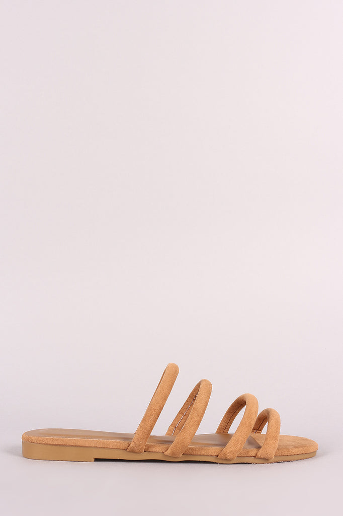 Bamboo Suede Strappy Tube Slide Sandal
