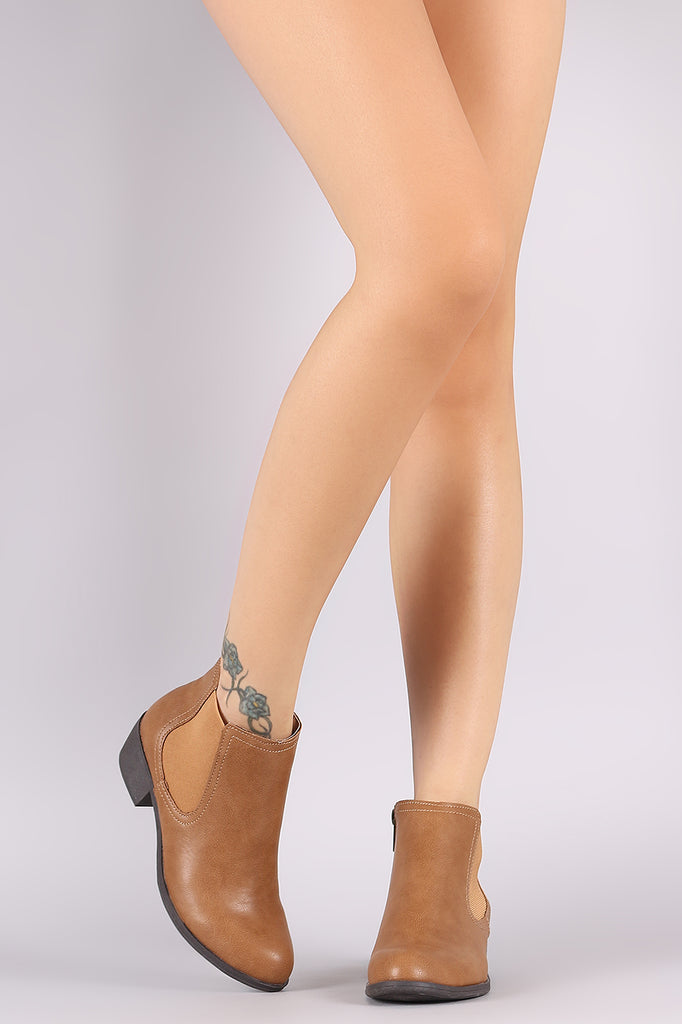 Bamboo Plain Elastic Gore Ankle Boots