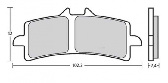 Brembo Racing Z04 Brake Pads (2 sets- Enough for both front calipers)
