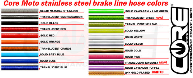 Core Moto Brake Line Kits