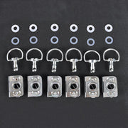 Dzus Bodywork Fastener Kit - Clip Type - Pckg of 6