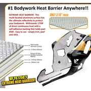 "Bodywork Heat Shield - 12"" x 21"", Super High Temp, Peel and Stick"
