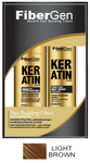 Keratin Hair Fiber Set - Light Brown (30g Fiber   120ml Fiber Hold Spray)