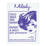 "Milady Jumbo Cold Wave End Papers 3"" x 4"", 1000 per box"