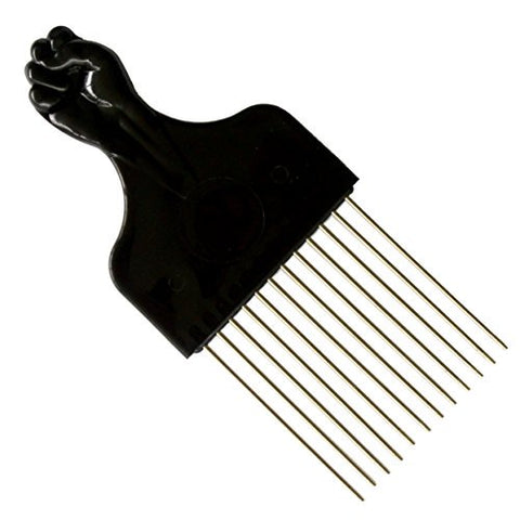 Fashion Style Afro Pick with Fist - Metal Comb