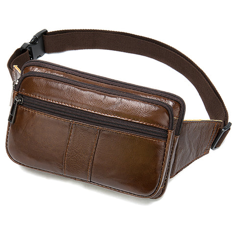 Genuine leather male Waist Pack
