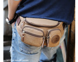 Men Canvas Waist bag Pack