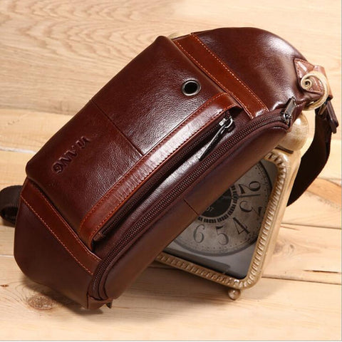 Men Oil Wax Cowhide  Bag