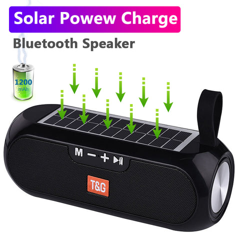 Portable Solar Power Bank Boombox