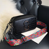 Women Waist Bags PU Leather Crocodile Pattern