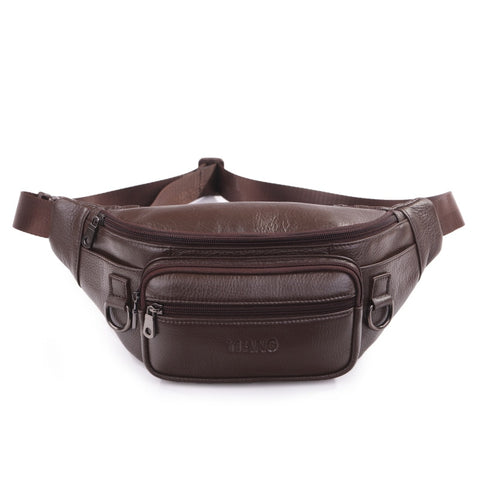 Men Natural Skin Shoulder Bag Genuine Leather