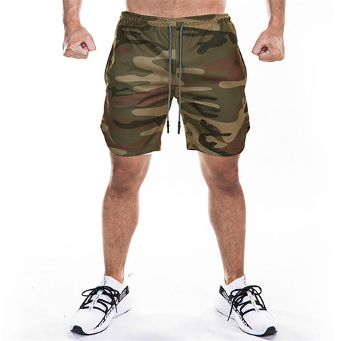 Men's 2 in 1 Running Security Pockets Shorts