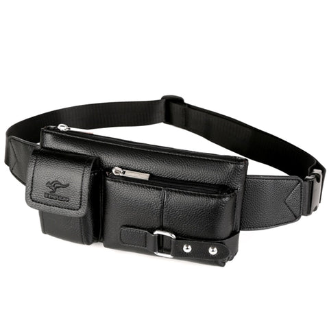 Men Leather Fanny Pack Chest Bag