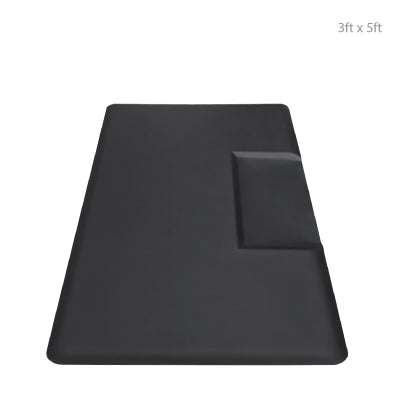 Rectangle Anti Fatigue Mat with Rectangle Chair Impression 3ft x 5ft