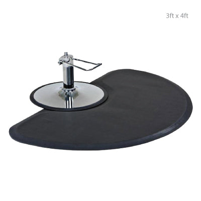 Semi-Circle Anti Fatigue Mat with Chair Impression 3ft x 4ft