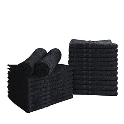 Black Bleach Proof Salon Towels - 1 dozen/pk