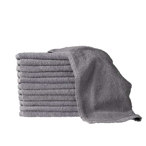 Grey Bleach Proof Salon Towels - 1 dozen/pk