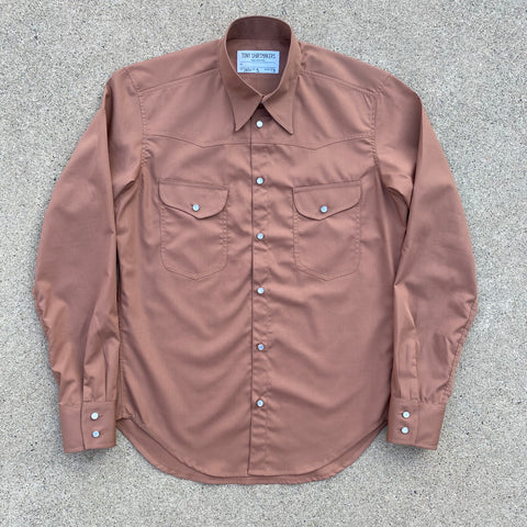Washed Sienna Retro Inspired Western Shirt