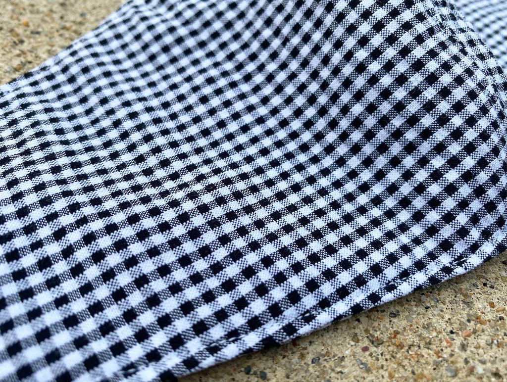 Japanese Cotton Mini Gingham (Seersucker) Black/White (Lightweight)