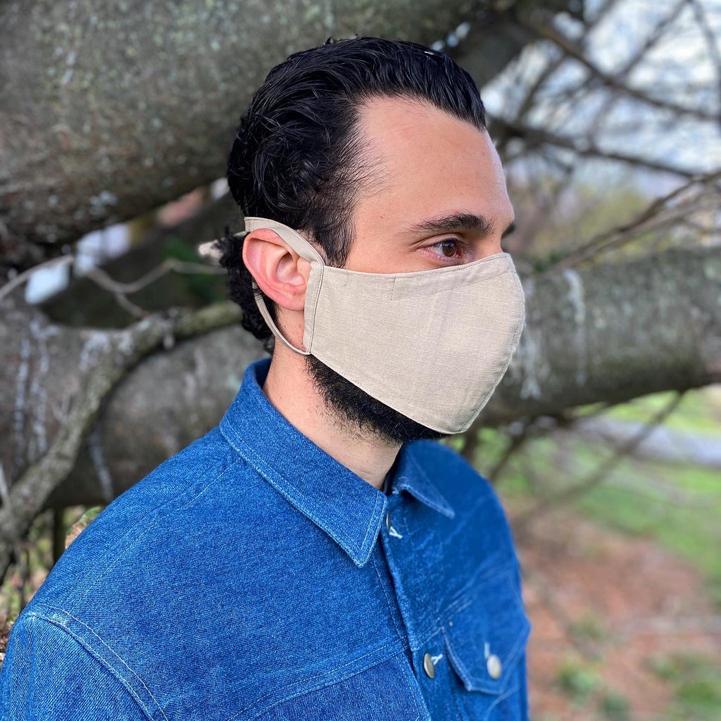 American Rip Stop Khaki Cotton Face Mask