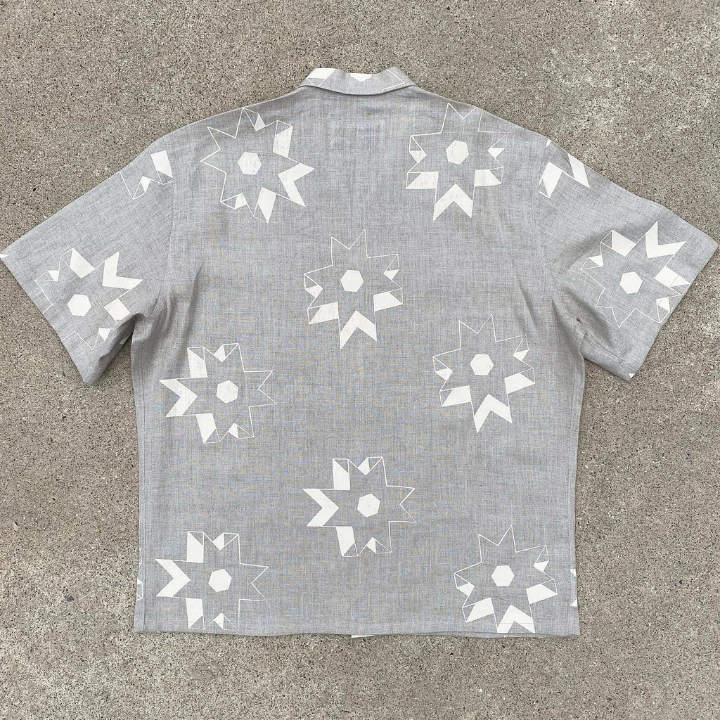 Butter Cream on Oatmeal Two Pocket Camp Shirt
