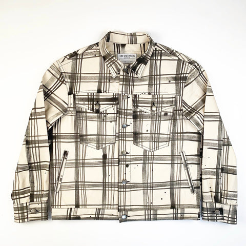 Hand Painted Plaid Trucker Jacket 12oz American Duck (1/1)