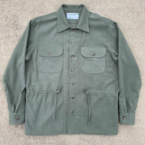 (New) Safari Shacket in Sage Moleskin